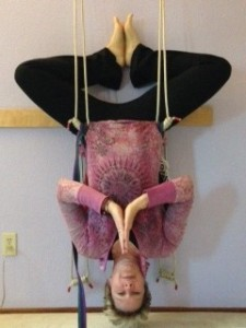 Baddha Konasana on the ropes